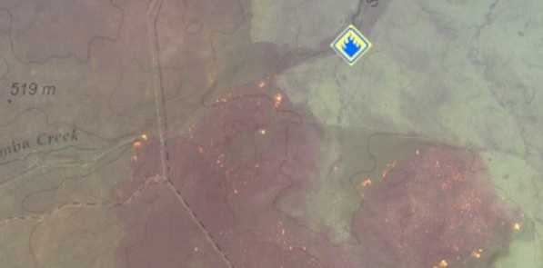 Aerial imaging of the bushfire at Karara.