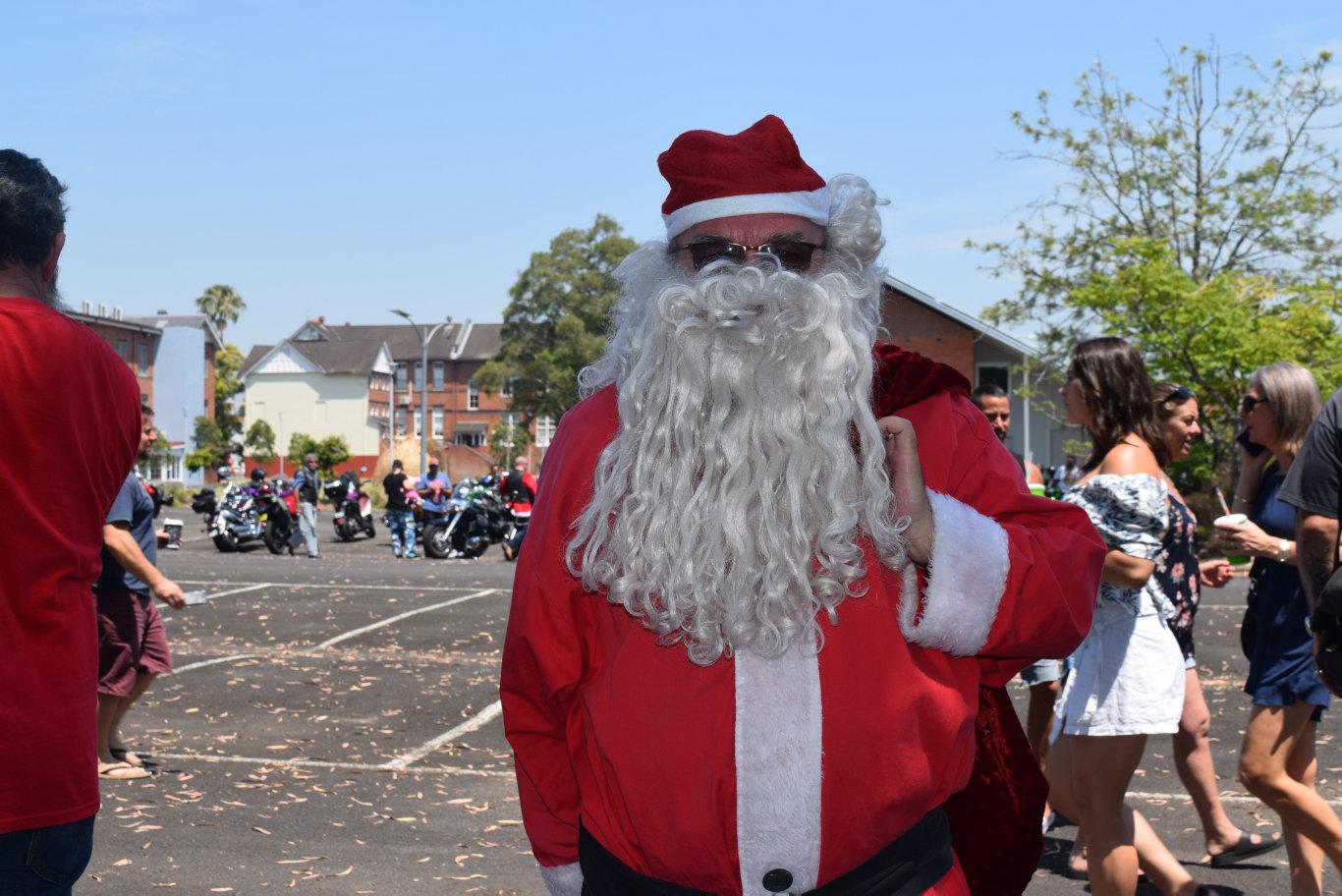 Santa attend the toy run each year.