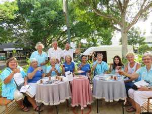 Tea break: TN volunteers stop at Ekrem Kotch's