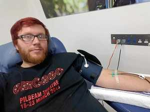 Daughter's birth prompts first blood donation