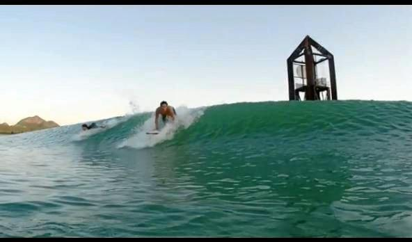 Image from the prototype testing video of Surf Lakes.