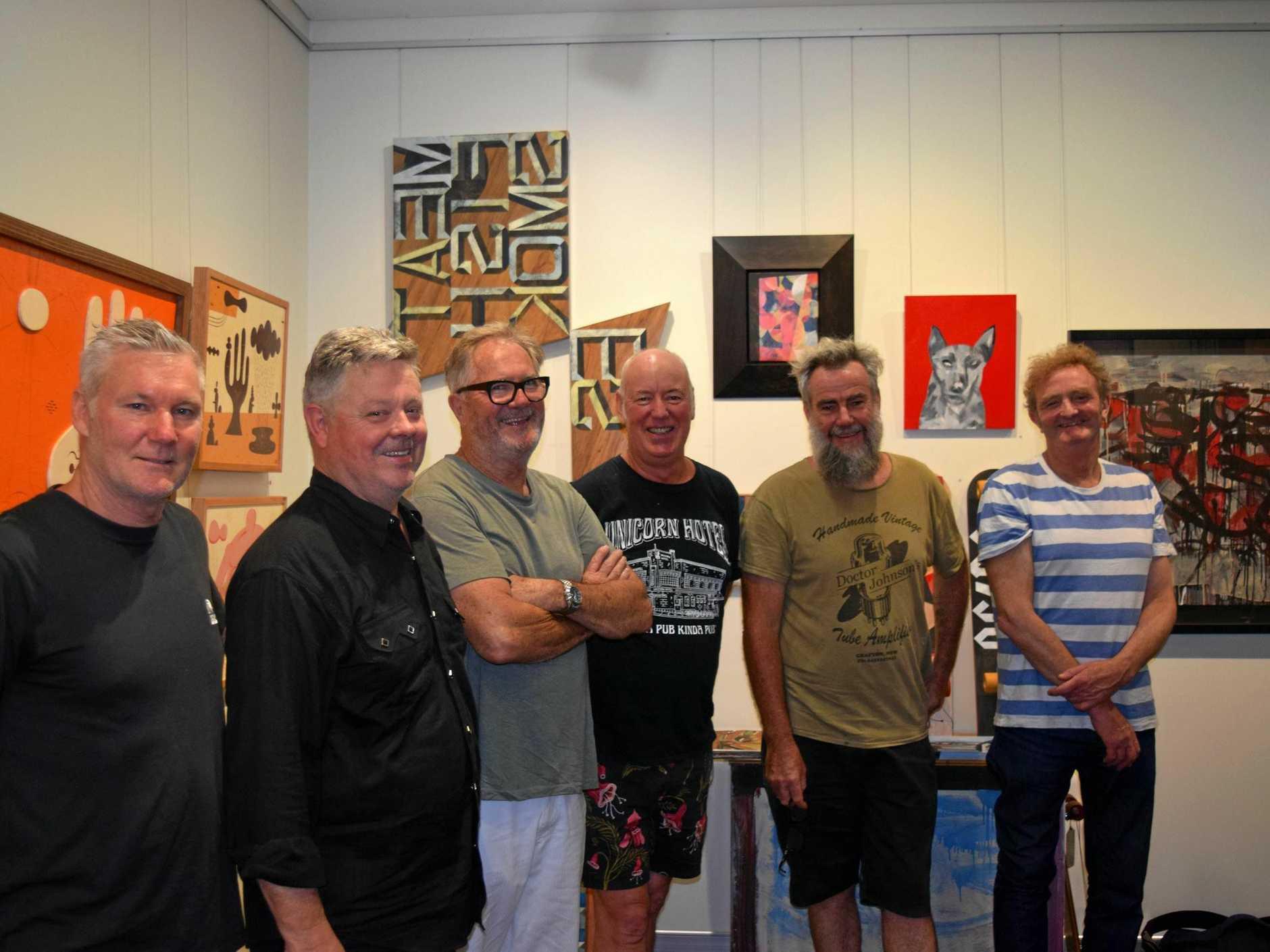 Mambo Founder with original artists: Jim Mitchell, David McKay, Founder Dare Jennings, Paul McNeil, Robert Moore, Gerry Wedd.