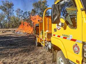 Karara State School closed while bushfire remains active
