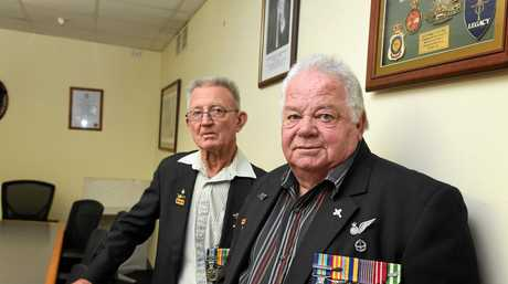 Gympie RSL Steve Raab and David Collins in earlier times.