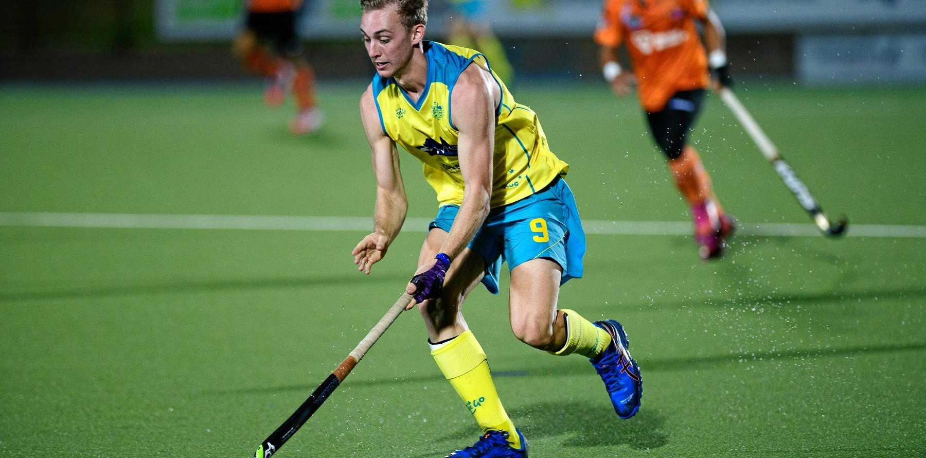 TALENT: Jacob Anderson playing for Australia.