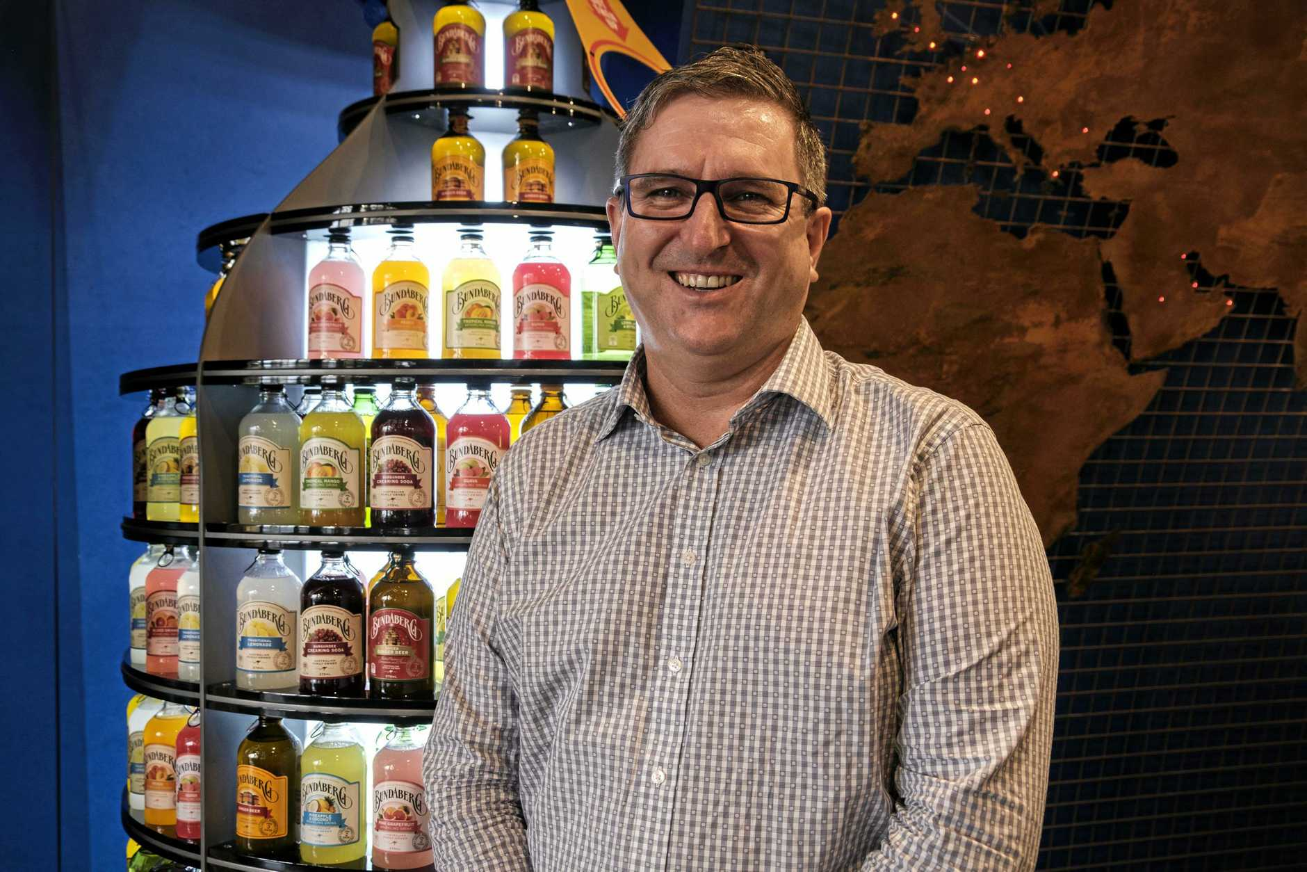 OPEN FOR BUSINESS: Bundaberg Brewed Drinks CEO John McLean welcomes tourists and locals alike to check out the new experience on offer at the newly refurbished, iconic Barrel.