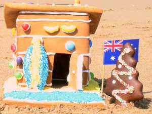 Aussie twist on traditional gingerbread house