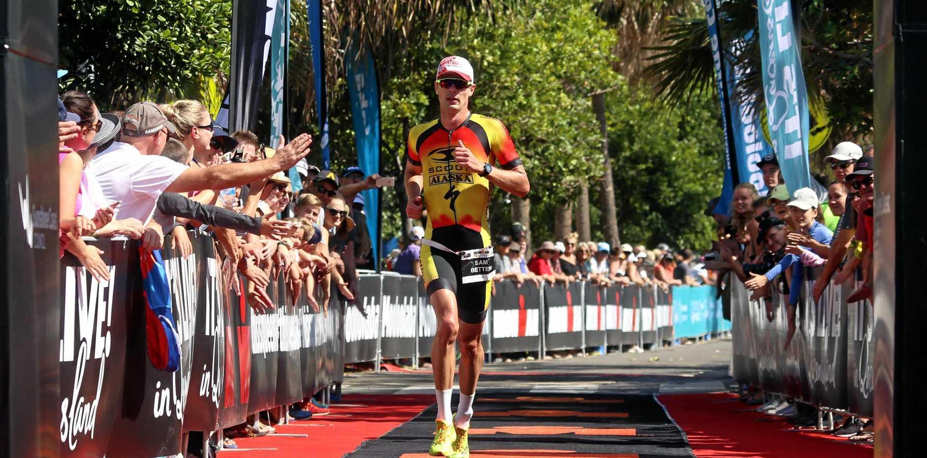 WINNER: Sam Betten won the Kingscliff Triathlon on Sunday