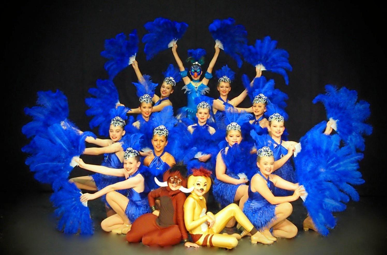 Children in costume for the La Creme Dance Academy concert