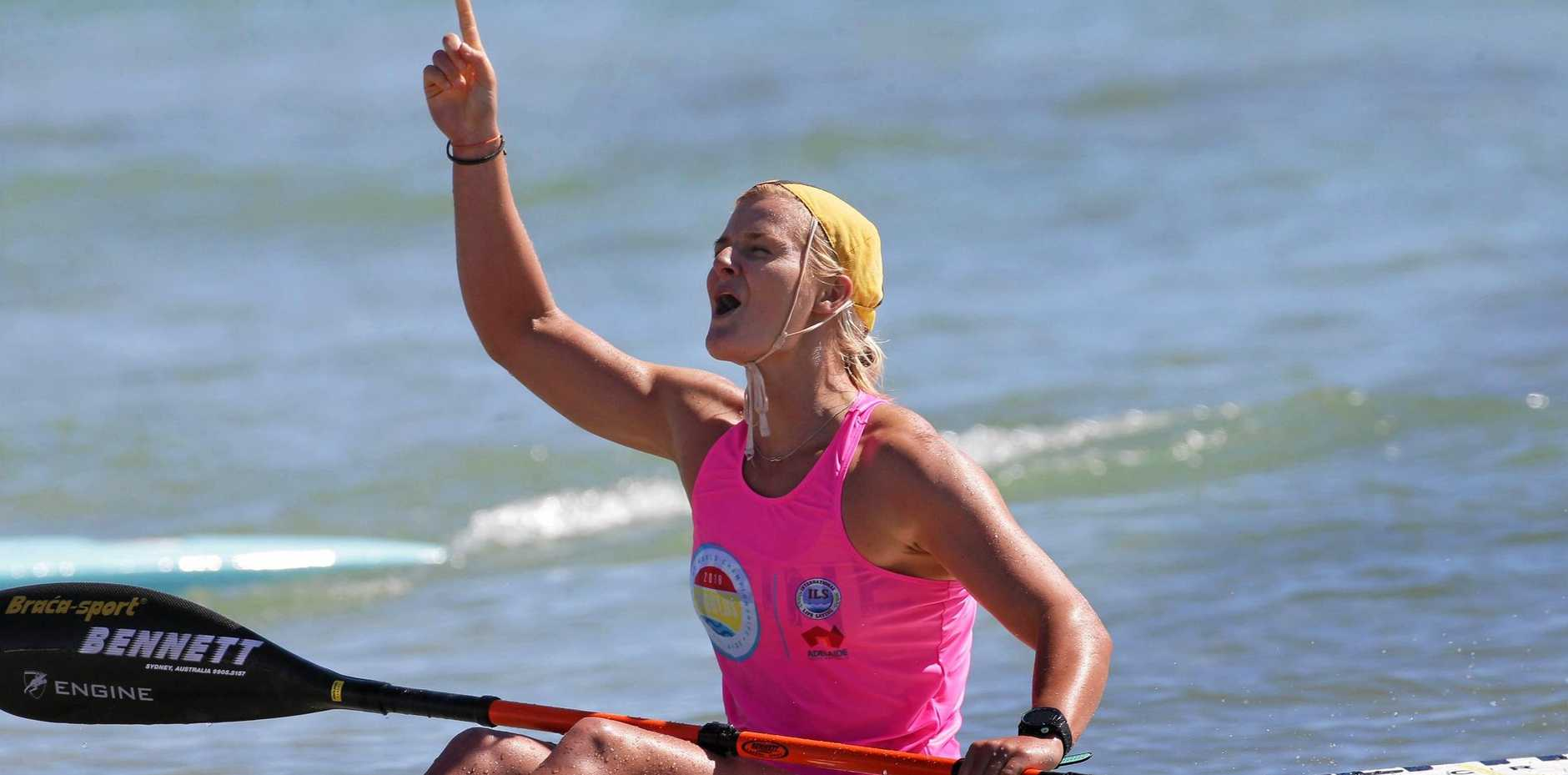 Alexandra Headland's Alyssa Bull won a maiden ski title at the Lifesaving World Championships.