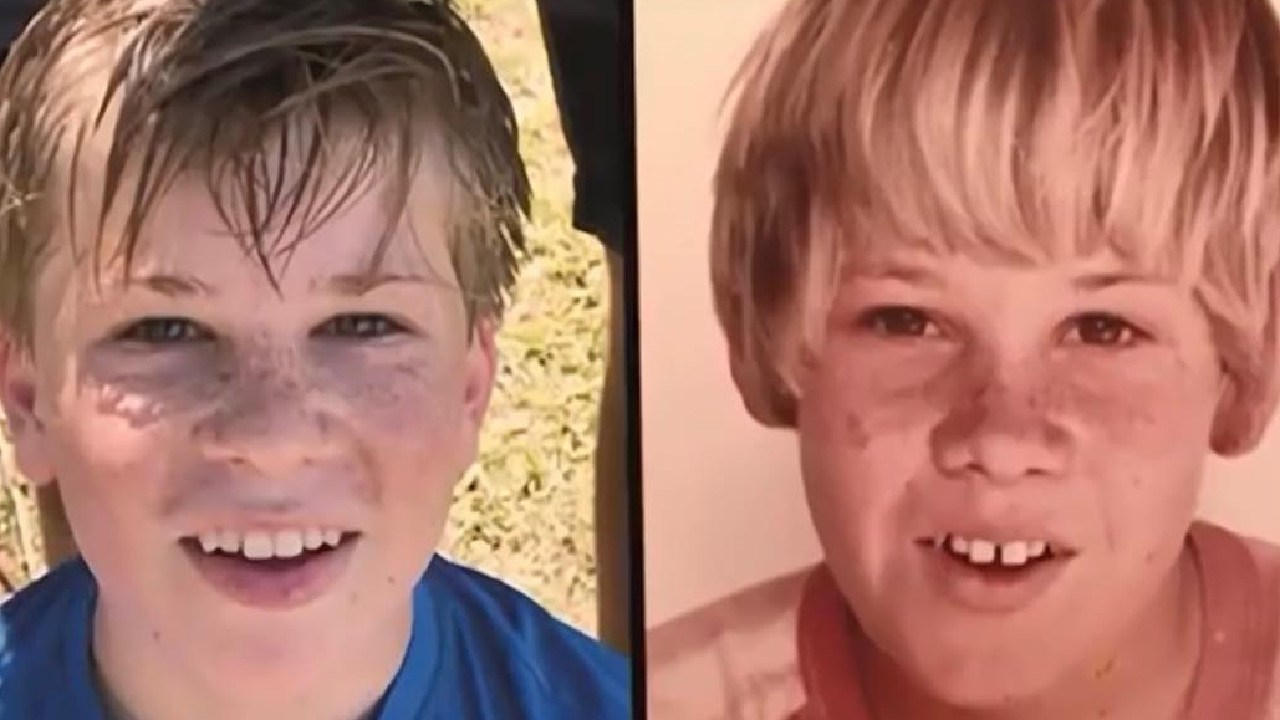 Lisa Wilkinson shared this photo of Robert Irwin and Steve Irwin.