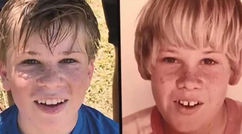 Lisa Wilkinson shared this photo of Robert Irwin and Steve Irwin.