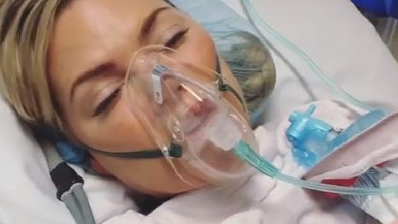 Sophie Monk is back in hospital.