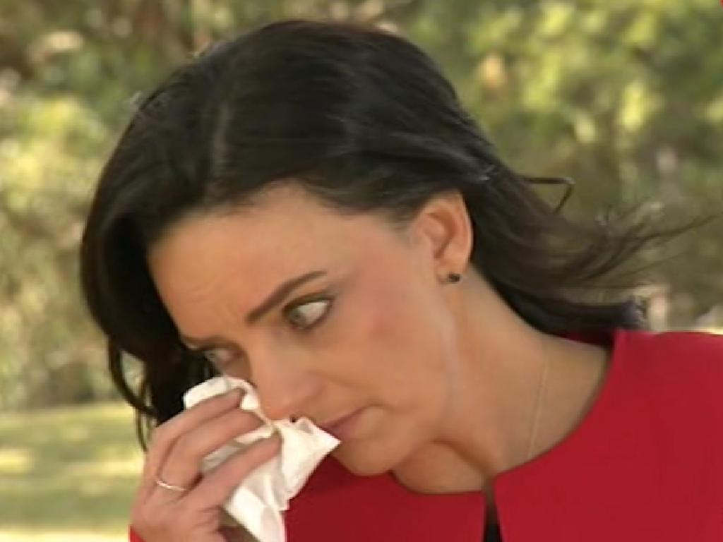 Husar announced in August she would not recontest her seat in an emotional interview, but she has since changed her mind. Picture: 9 NEWS