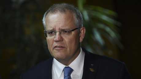 The ongoing division among the Liberal Party spells disaster for Scott Morrison at the next general election. Picture: AAP/Lukas Coch