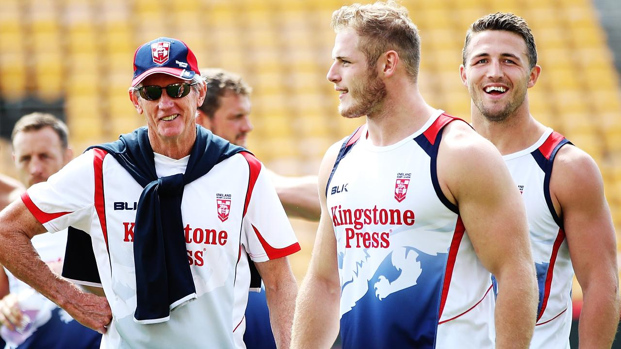 Wayne Bennett has coached Sam, Tom and George Burgess with the England side.