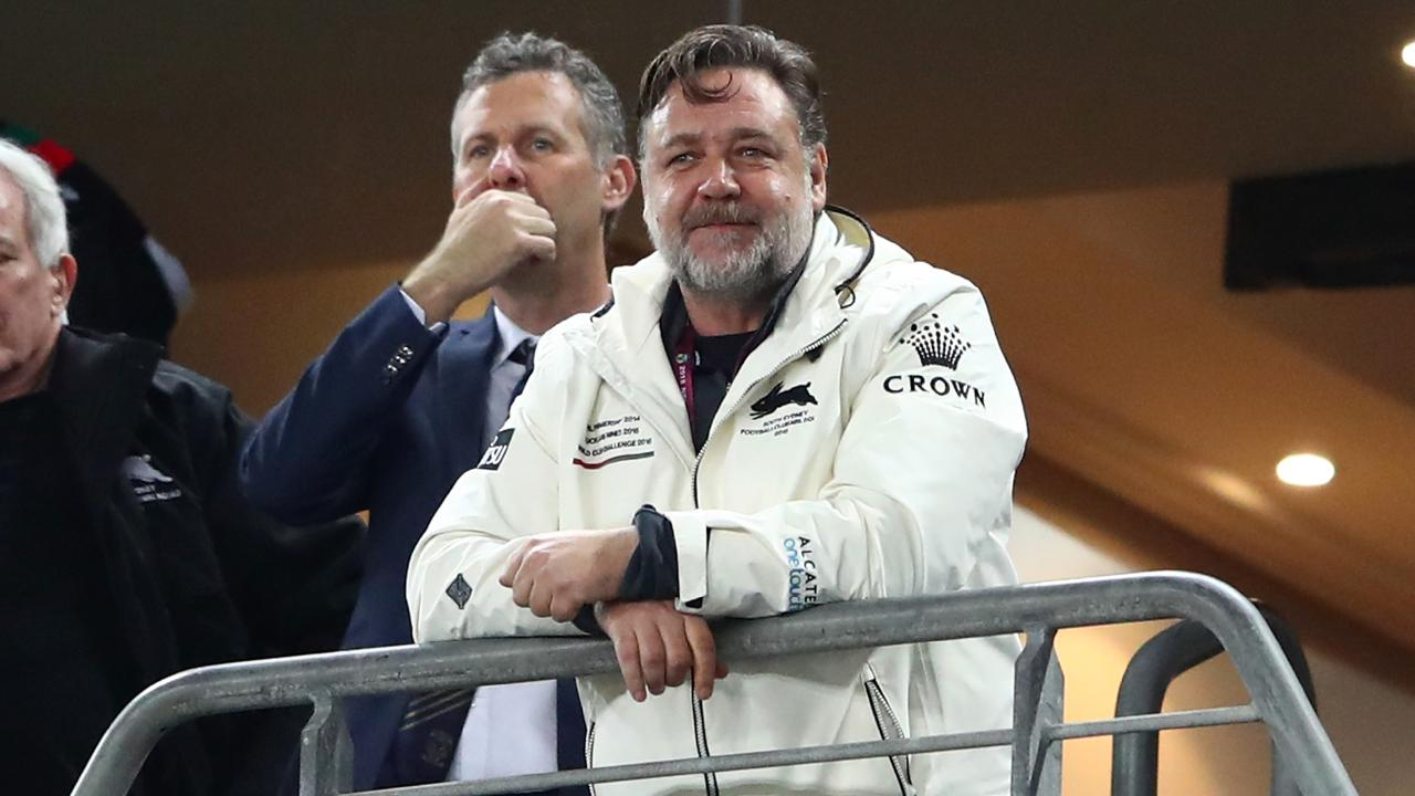 Russell Crowe has his critics but don't doubt his love for Souths. (Cameron Spencer/Getty Images)