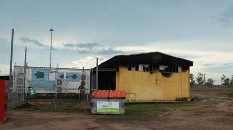 The remains of F block at the Don Dale Youth Detention Centre after it caught fire during a riot. Pictured Friday, November 9, 2018. Picture: Keri Megelus