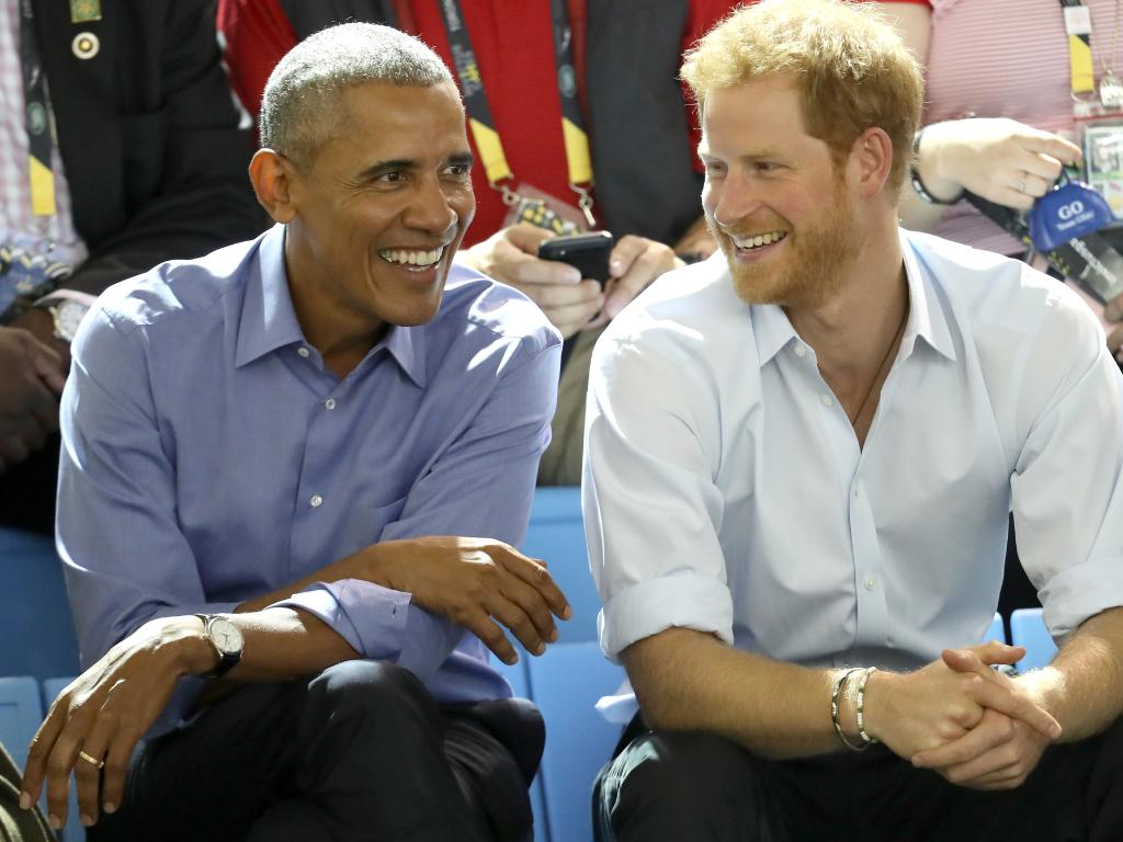 Former U.S. President Barack Obama and Prince Harry at the 2017 Invictus Games