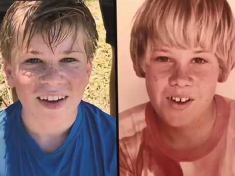 Robert Irwin on the left and dad Steve on the right.