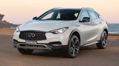 The Infinti QX30 has a slightly higher ride than the Q30.
