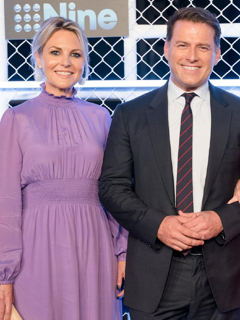 Georgia Gardner and Karl Stefanovic. Picture: Channel 9