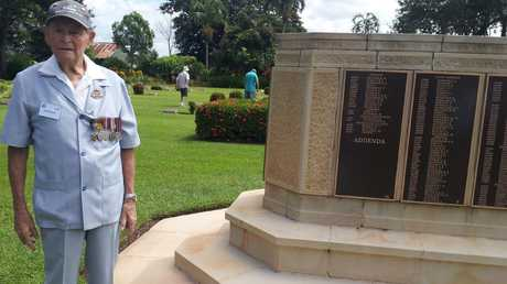 Maxwell Murphy at the Adelaide War Memorial Cemetery in February 2014 — nine months before his death. Picture: Supplied