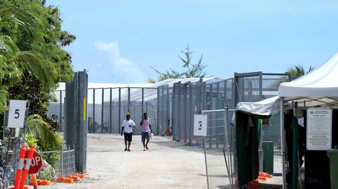 Detention camp 2 on Nauru, which houses single men. Picture: Nathan Edwards