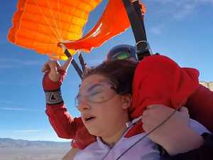 Shock moment skydive goes wrong