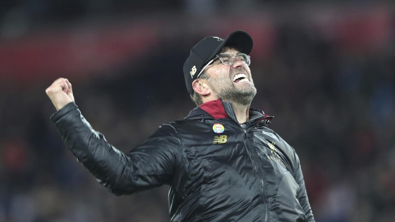 Liverpool coach Juergen Klopp celebrates