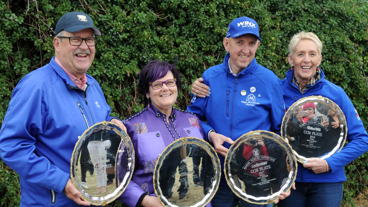 The success continues for Winx owners Paul and Debbie Keptiis and Peter and Patty Tighe.