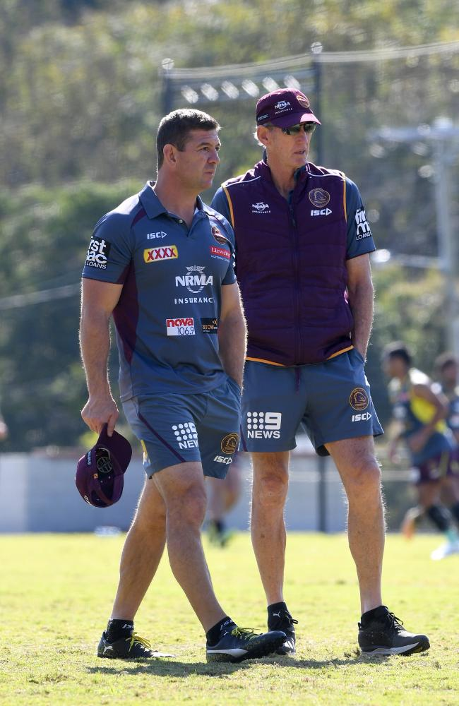 Broncos assistant coach Jason Demetriou could follow Wayne Bennett to South Sydney. (AAP Image/Dave Hunt)