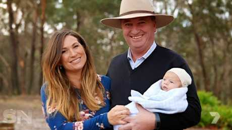 Joyce and Vikki Campion's son was born in April. Picture: Channel 7