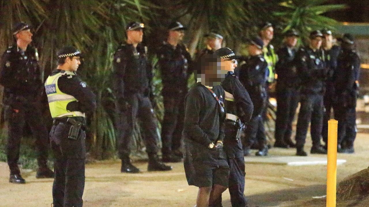 A night of brawls in St Kilda left three injured. Picture: Mark Stewart