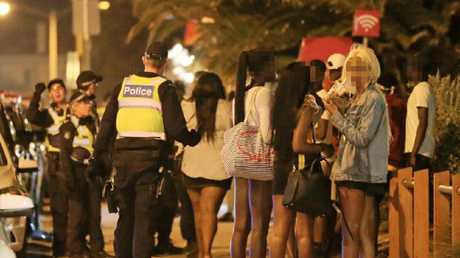 One man was arrested following the violence. Picture: Mark Stewart