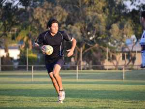 John Bunyoung looks for support in his grand final
