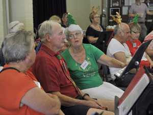 Members of the Forget Me Not Choir enjoy singing with