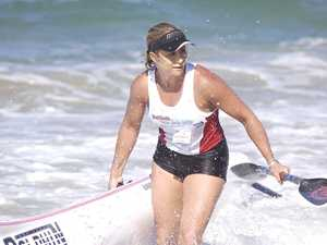 IN ACTION: Kirsty Holmes at a race at Mooloolaba.