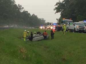 Bruce Hwy blocked as emergency services treat injured