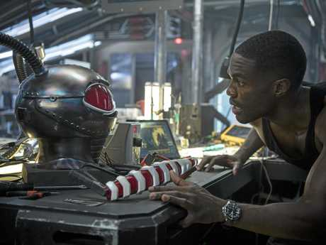 Yahya Abdul-Mateen II in a scene from the movie Aquaman. Supplied by Warner Bros.