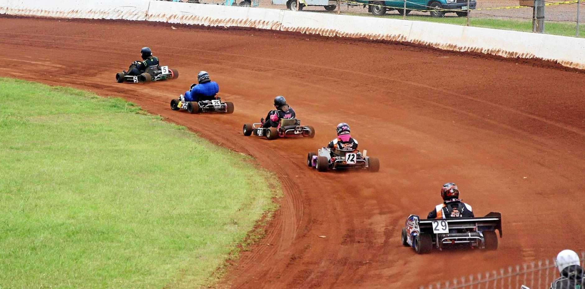 RACE IN: The Lockyer Valley Speedway will roar back into town on Saturday, with president Ian Jones saying the kart races are not to be missed.
