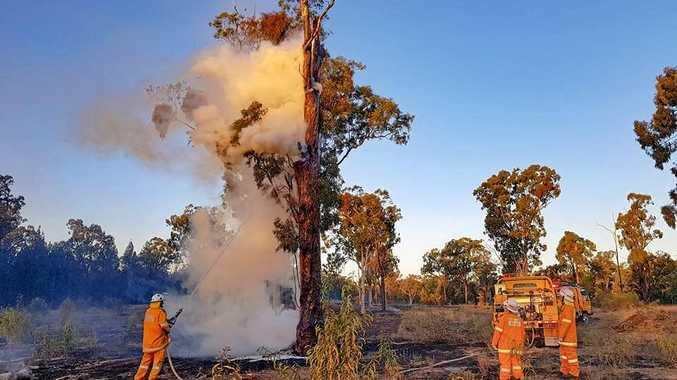 UNDER CONTROL: Crews are continuing to monitor the bushfire at Karara.