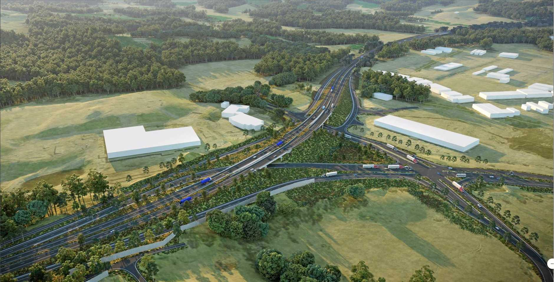 Artist impressions of the Coffs Harbour Pacific Highway Bypass.
