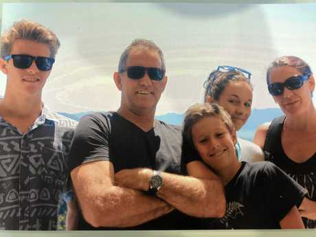 FAMILY: From left, Jacob, Steve, Will, Sarah and Julie Mabb.