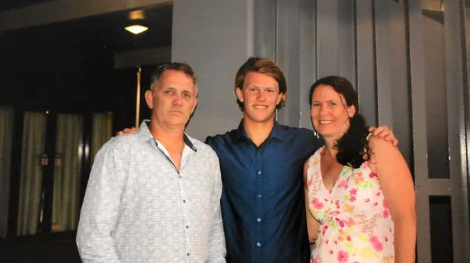 PROUD: Steve, Jacob and Julie Mabb.