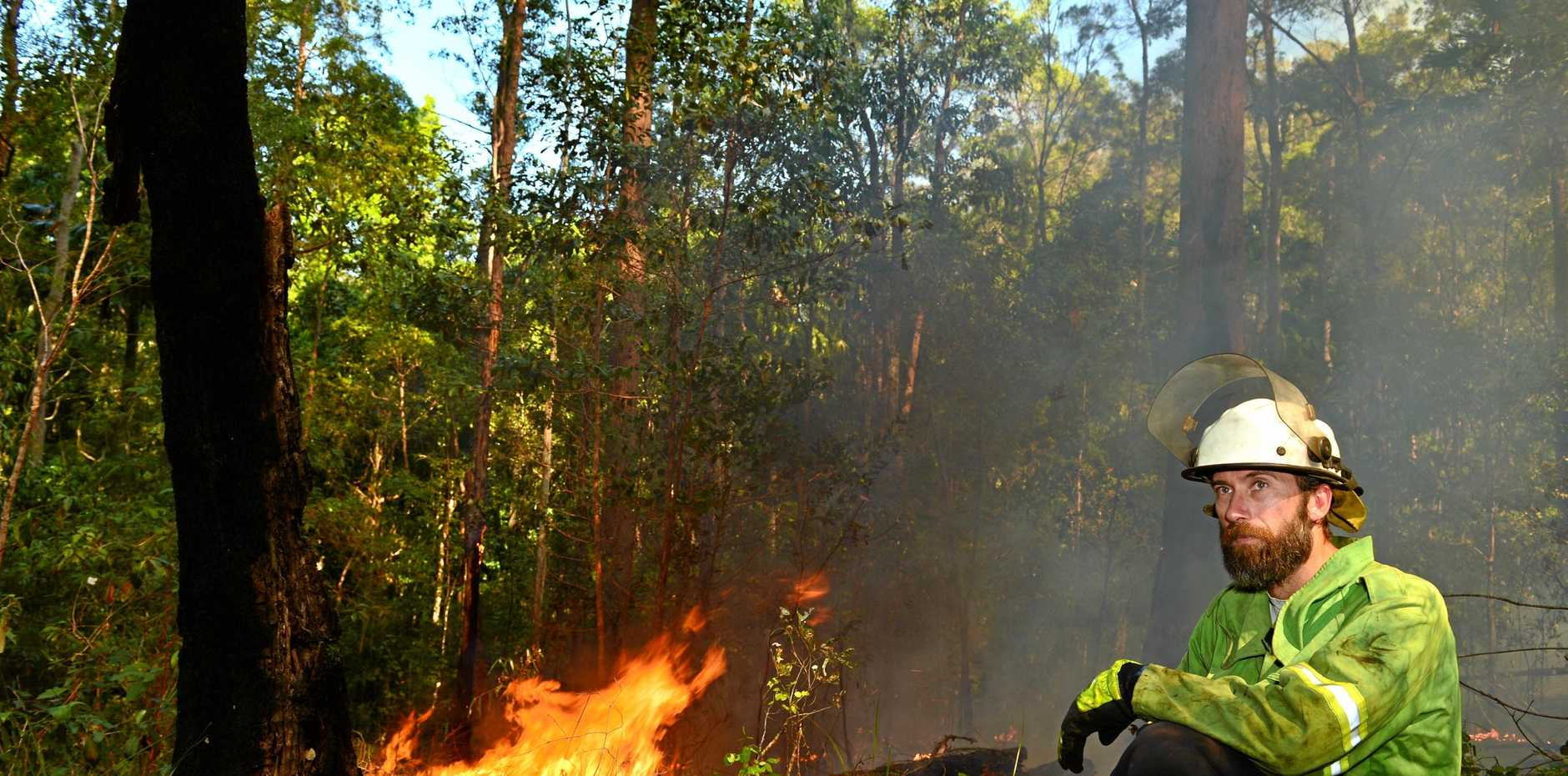 Park rangers like John McQueeney are keeping an eye on the controlled burns and fire conditions in National Parks.