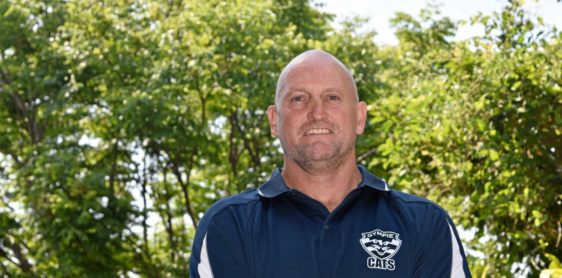 NEW CAT: Gympie Cats' new coach Dave Carroll has big plans in place for next season.