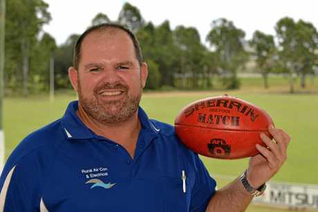 AFL: Gympie Cats Coach, Jason Bromilow. Photo Patrick Woods / Gympie Times