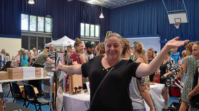 UNIQUE: The Handmade Expo Airlie Beach market organiser Noella Brickell was pleased with Sunday's market in Cannonvale.