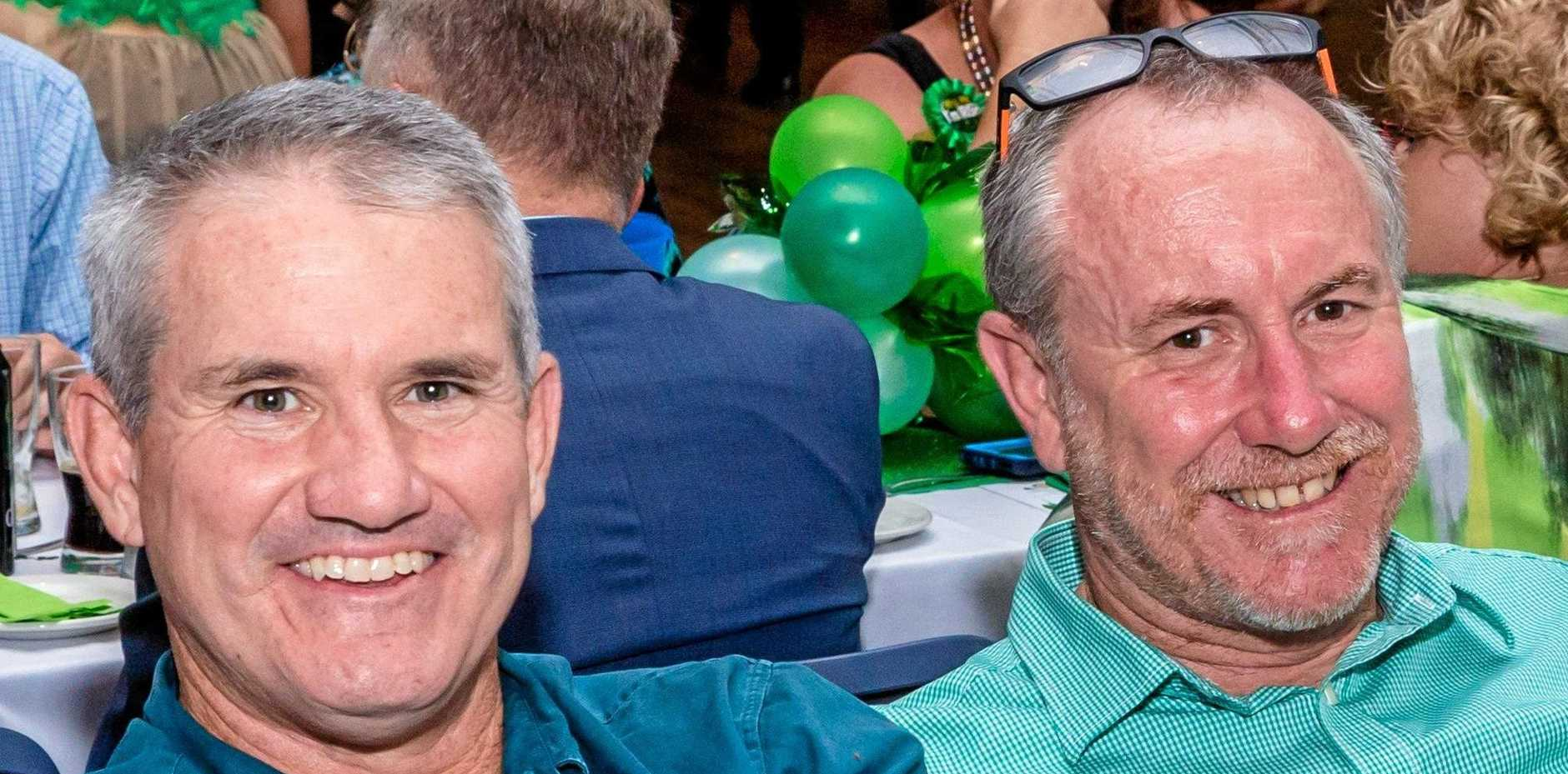THANK YOU LADS: Gympie footy coaches of differing codes, John